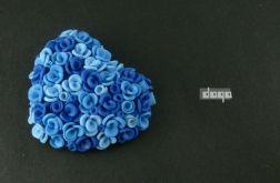 różane serce - niebieskie