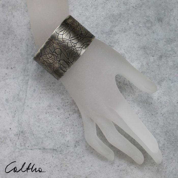 Nitki - metalowa bransoleta  151001-07 - metalowa bransoleta