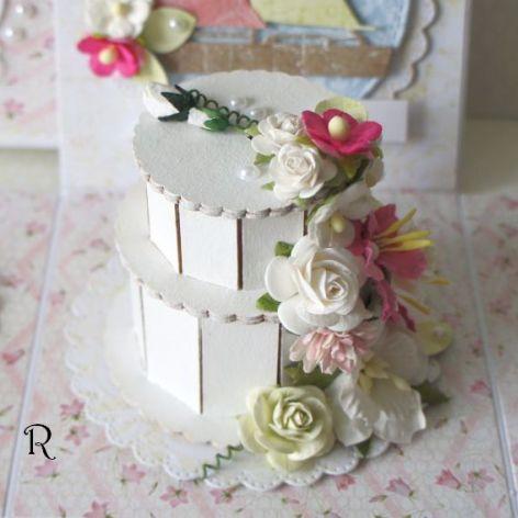 Ślubne życzenia w pudełku z tortem #6