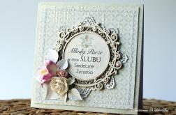 Kartka Ślubna z warstwową ramką