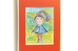 Kolorowy obrazek dla dziewczynki, pastele