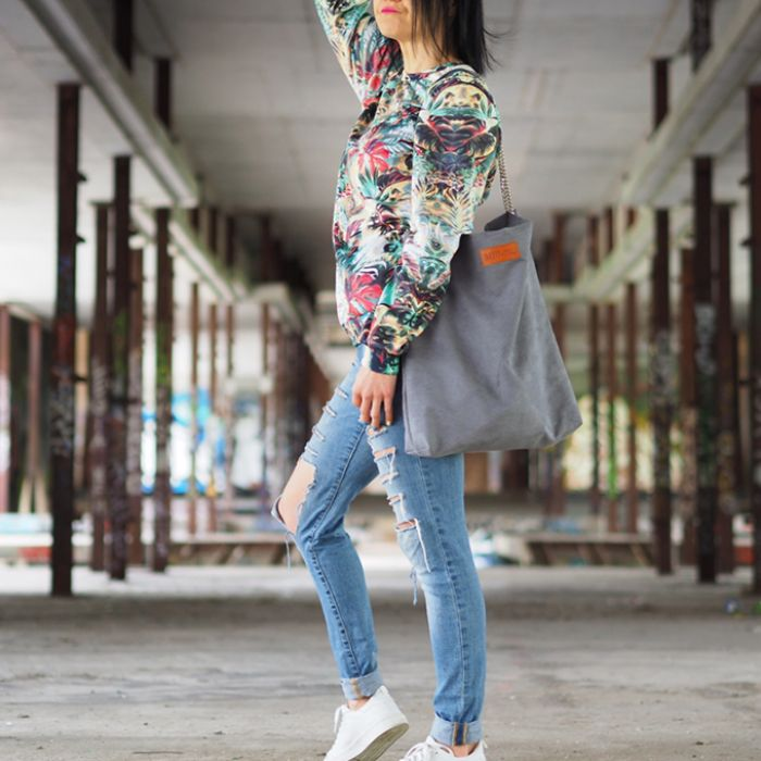 Torba worek Mili Chic MC5 - grey