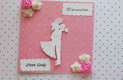 Kartka 50 rocznica ślubu + koperta 1