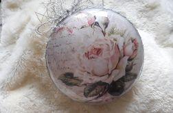 Bombka medalion róża