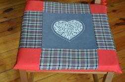 Poduszki na krzesła,siedziska - nuty w sercu
