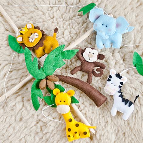 Karuzela nad łóżeczko - Safari - WZÓR