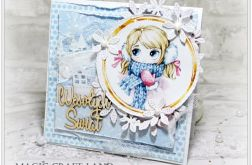 Śnieżna Lily - kartka świąteczna