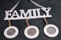 Ramka na trzy zdjęcia Family
