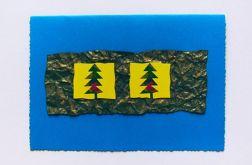 Granatowa kartka świąteczna dwie choinki