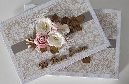 Kartka na ślub A5 w pudełku kwiaty
