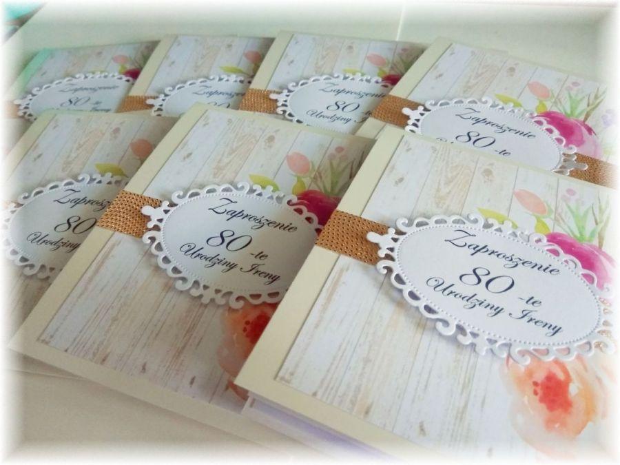 Zaproszenia Urodzinowe Dla Kobiety 40 50 60 Kartemilia