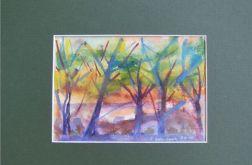 Wiosna-akwarela obraz malowany ręcznie