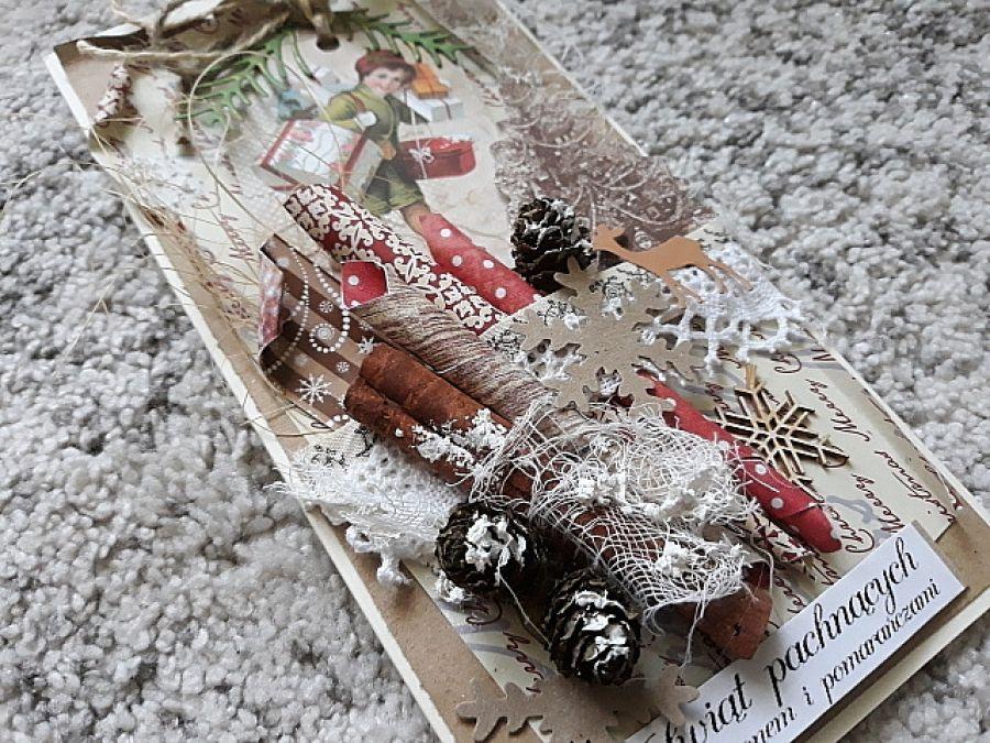 Kartka świąteczna,rustykalna B.Narodzenie