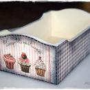 Pudełko vintage muffinki