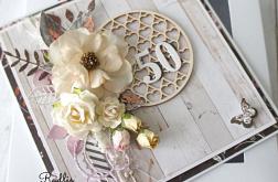 Kartka urodzinowa - okrągła '50'
