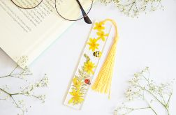 Zakładka do książki - żółta flora -02