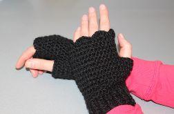 Mitenki rękawiczki bez palców czarne