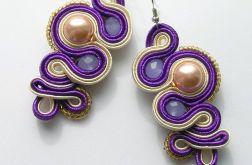 Purple octopus - kolczyki sutasz