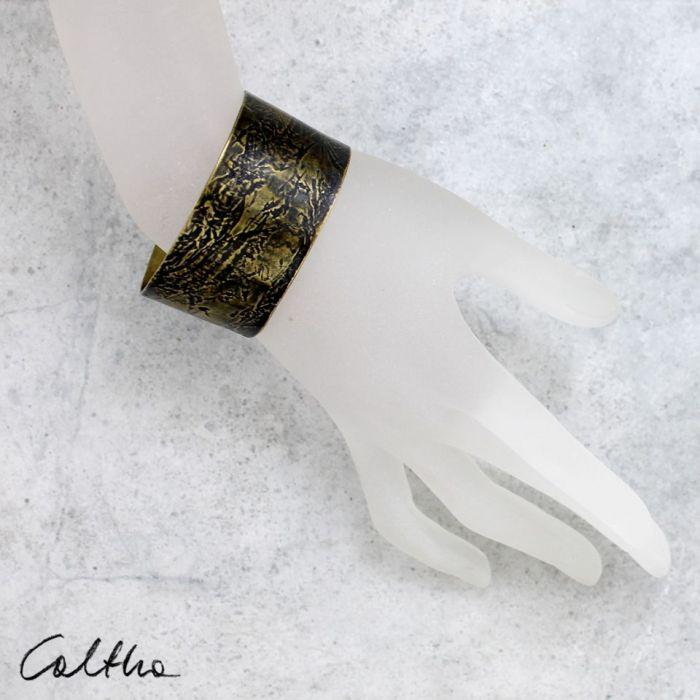Rzeka - mosiężna bransoleta 151026-04 - Mosiężna bransoleta