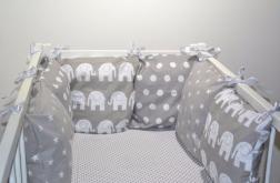 Modułowy ochraniacz do łóżeczka 6 szt N45