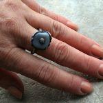 Agat w chropowatościach - pierścionek z agatem
