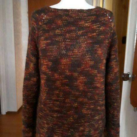 sweter w kolorch jesieni 100%wełna
