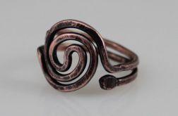 Spirala - miedziany pierścionek 190422-03