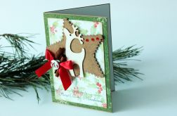 Renifer - kolorowa kartka na święta
