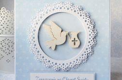 Zaproszenie na Chrzest z gołębicą