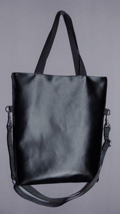 Torebka damska torba worek czarny
