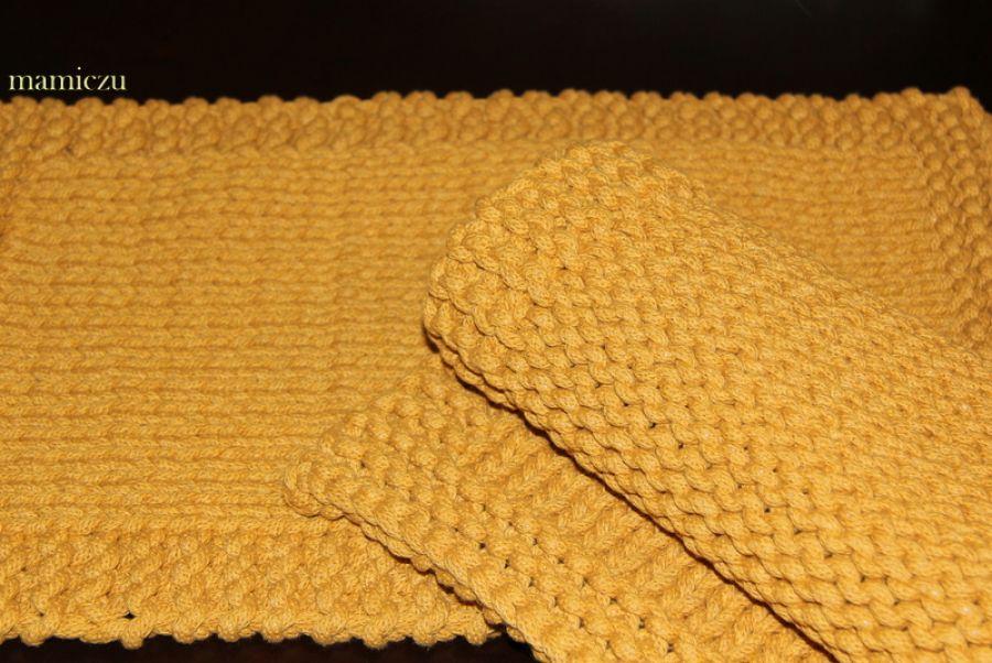 Podkładki ze sznurka bawełnianego