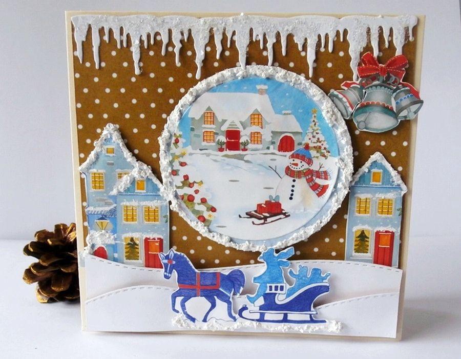Mroźna zima - Mikołaj w saniach