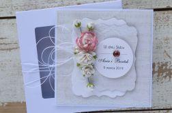 Kartka ślubna z personalizacją + pudełko a7