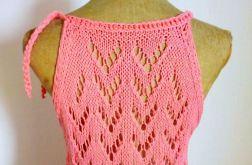 letni bawełniany top na drutach