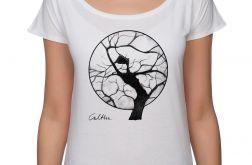 Drzewo - koszulka oversize - biała
