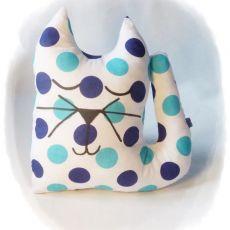 Kotek w groszki - maskotka przytulanka