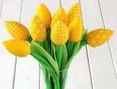 TULIPANY, żółty bawełniany bukiet