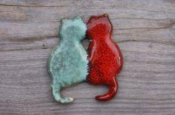 Magnes na lodówkę KOTY czerwony/zielony