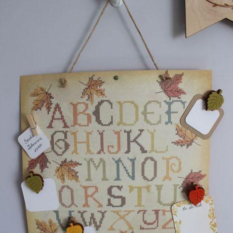 Jesienny Planner Alfabet