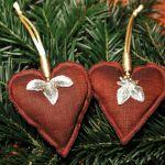 komplet serduszek bożonarodzeniowych 4szt