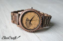 Drewniany zegarek na bransolecie GRA O TRON