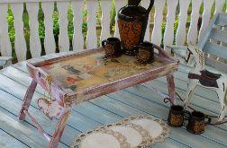 Taca, stolik śniadaniowy, retro, prezent