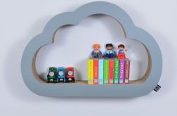 Półka na książki zabawki CHMURKA | szary