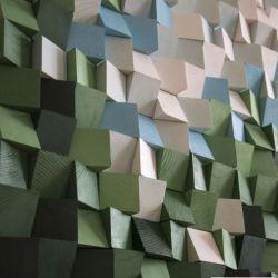 """Obraz drewniany 3D Mozaika drewniana """"Las"""""""