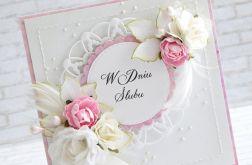 Biel i róż na ślub