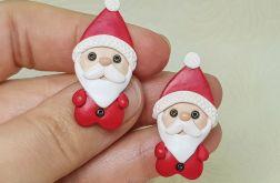 Kolczyki Świąteczne Małe Mikołaje