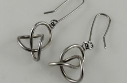 Zaplątane - srebrne kolczyki 180204-01