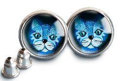 Blue cat kolczyki sztyft