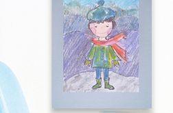 Chłopczyk obrazek do dziecięcego pokoju