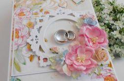 Ślubna kartka z obrączkami 01